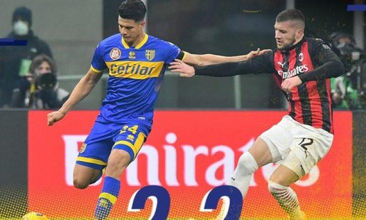 Hernandez shpëton Milanin nga humbja, Milan dhe Parma ndajnë pikët
