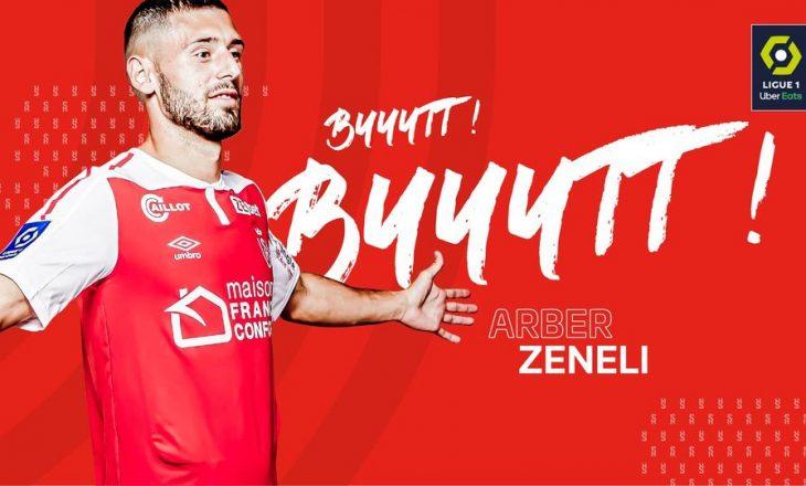 Arbër Zeneli shënon nga këndi për Reims