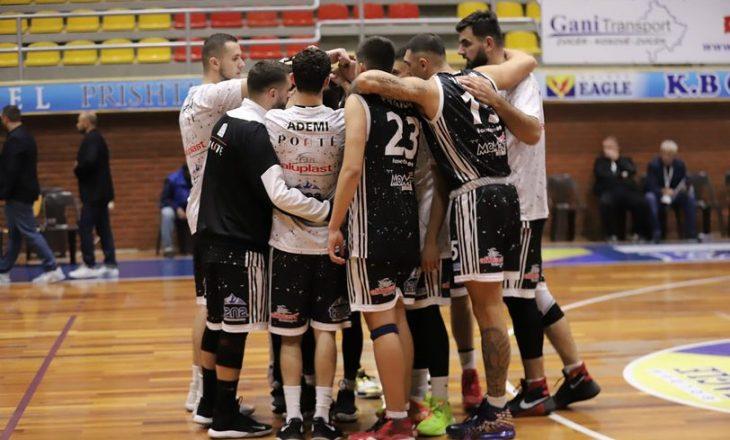 Basketboll: Ponte Prizreni mposht Trepçën në Mitrovicë