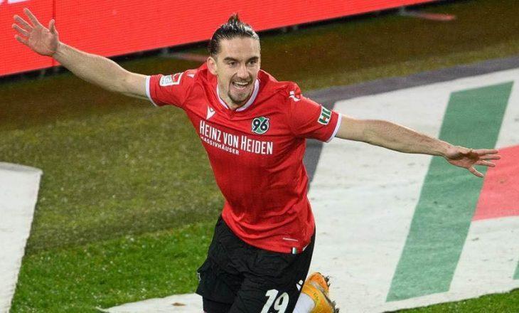 Vamir Sulejmani shënon gol për Hannover-in