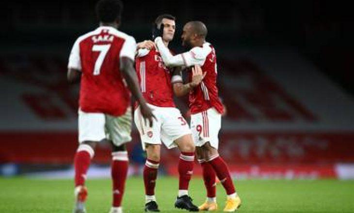 Arsenal mpsht Chelsea-n, Xhaka shënon supergol