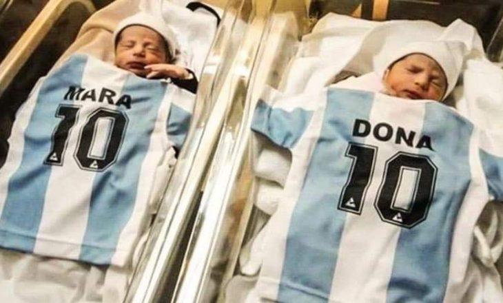 Një çift nga Argjentina emëron binjaket e tyre Mara dhe Dona, pas vdekjes së Maradonës