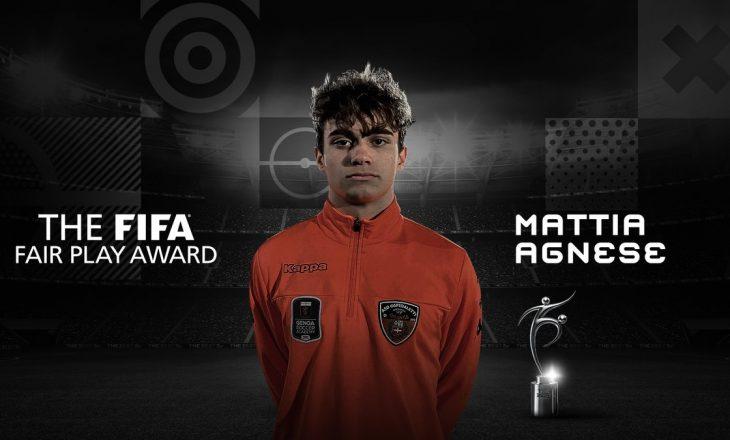 Çmimi 'Fair Play' për vitin 2020 e fiton Mattia Agnese