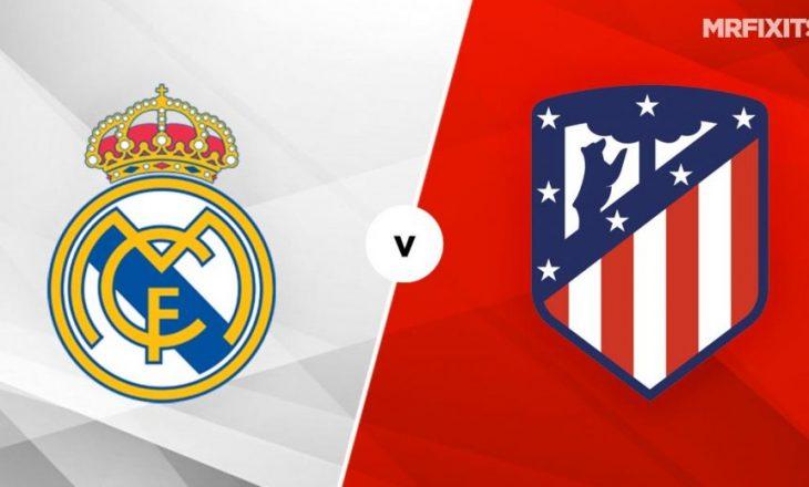 Derbi madrilen, Real vs Atletico – formacionet