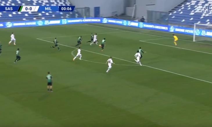 Milan kalon në epërsi ndaj Sassuolo-s pas vetëm gjashtë sekondash lojë