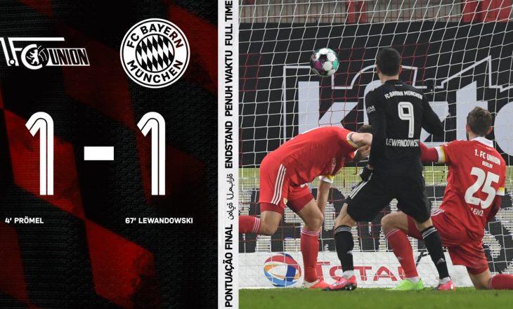 Union Berlin ndal Bayern Munchen-in në barazim