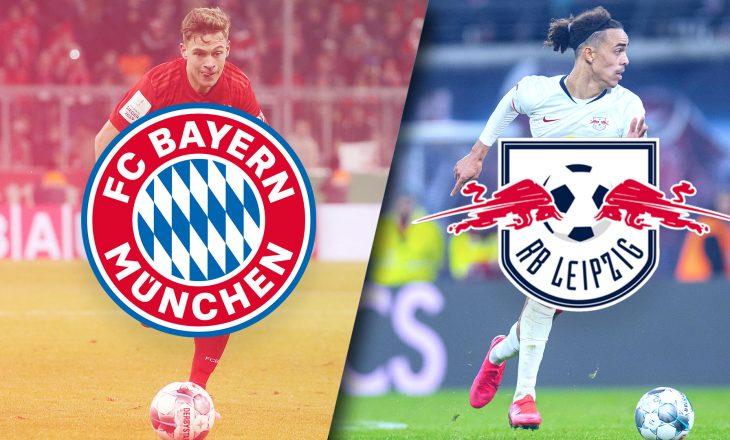 Derbi i Bundesligës, Bayern Munchen vs Leipzig – formacionet zyrtare
