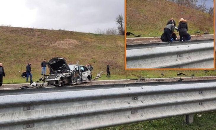 """Aksident në autostradën """"Ibrahim Rugova"""", katër të lënduar"""