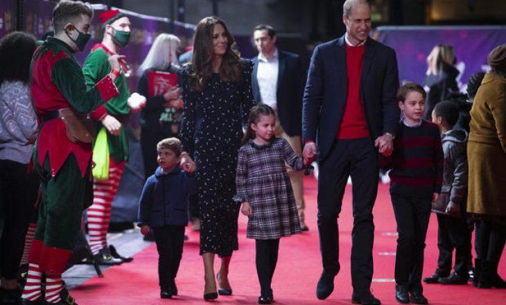 Princi William dhe Kate Middleton së bashku me fëmijët debutojnë në tapetin e kuq