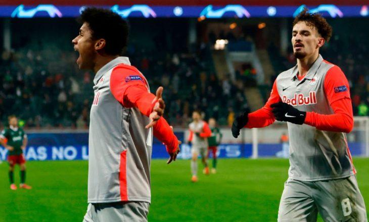 Mërgim Berisha realizon dy gola për Salzburgun në Ligën e Kampionëve