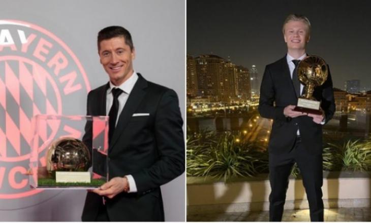 Lewandowski shpallet lojtari i vitit, derisa Haaland rrëmben çmimin 'Djaloshi i Artë'