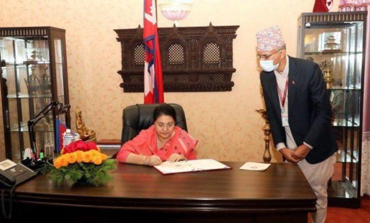 Presidentja e Nepalit shpërndan Parlamentin, zgjedhjet vitin e ardhshëm