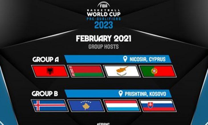 FIBA vendos që ndeshjet e grupit B për Kupën e Botës 2023 të mbahen në Prishtinë