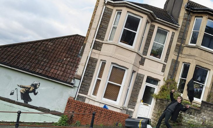 Shtëpia mund të vlejë miliona vetëm se Bansky pikturoi një mur të saj