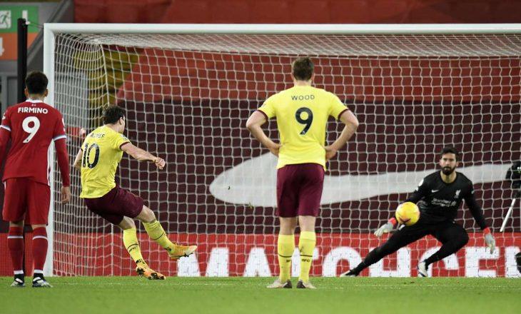 """Liverpool 'shijon' humbjen e parë në """"Anfield"""", Burnley mposht kampionët e Anglisë"""