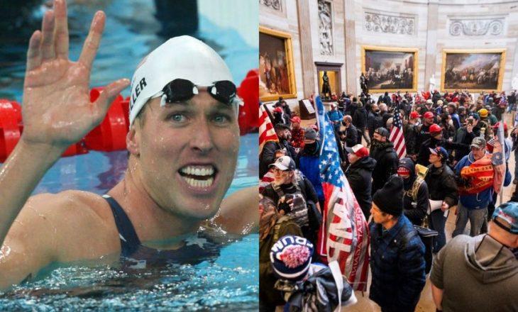 Notari fitues i medaljes së artë olimpike pjesëmarrës në trazirat e Capitol Hill-it