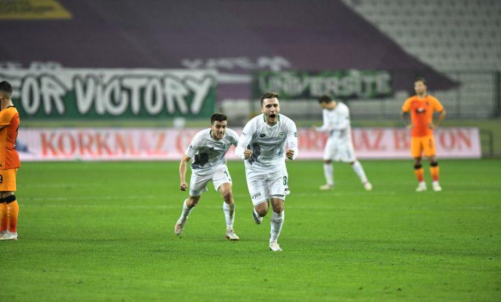 Erdon Daci shënon dy herë ndaj Galatasaraya-t në Superligën turke