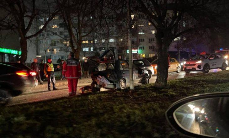 Aksident në Prishtinë, një i lënduar