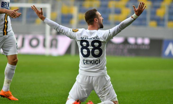 Endri Çekiçi shënon supergol nga gjuajtja e lirë për Ankaragucu