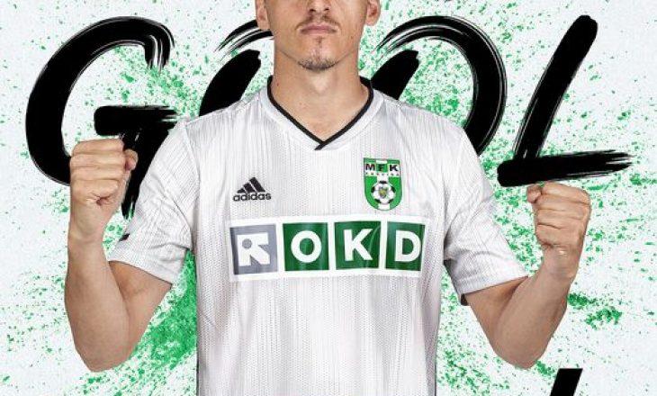 Mesfushori i Kombëtares shqiptare shënon gol në Çeki