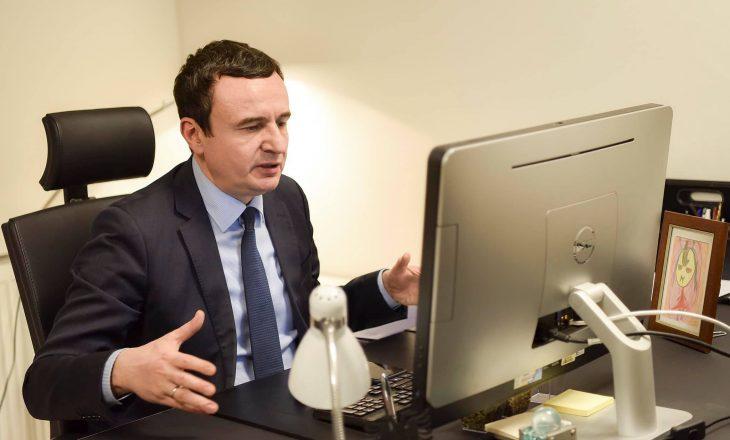Kurti: Dialogu me Serbinë duhet të zhvillohet pa presidentë