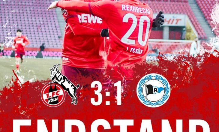 Elvis Rexhbeçaj shënon gol për Koln-in në fitoren ndaj Arminia Bielefeld