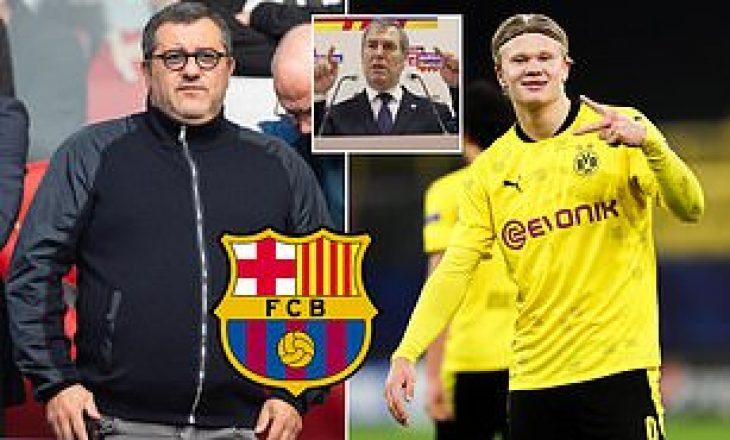 Mino Raiola mendon t'i bëjë dhuratë Barcelonës sulmuesin Haaland