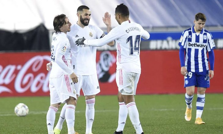 Real Madrid ka mposhtur bindshëm Alaves-in