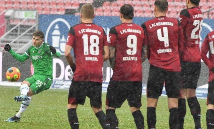 Florent Muslija shënon dhe asiston në fitoren e Hannover-it