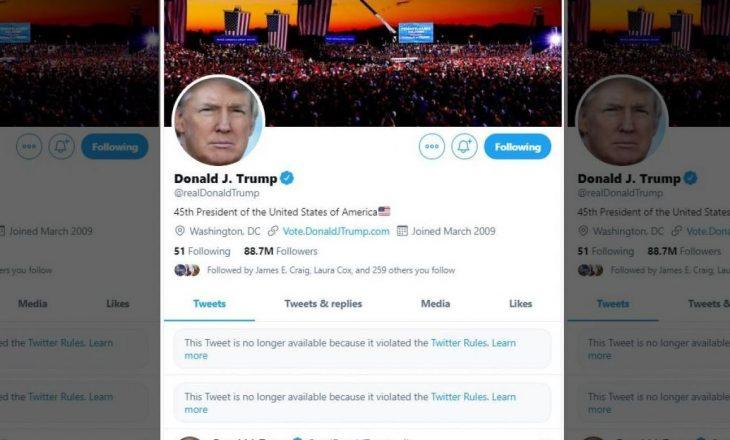 Twitter ia bllokon përgjithmonë llogarinë Donald Trumpit