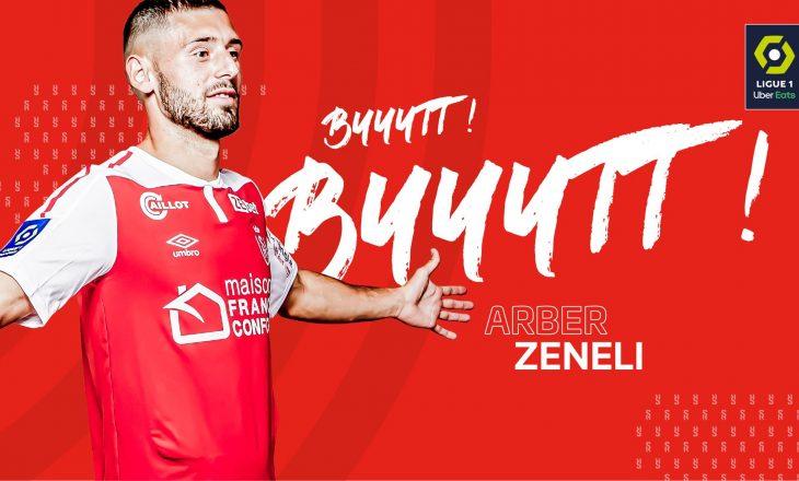 Arbër Zeneli shënon gol për Reims-in në Ligue 1 ndaj Lille
