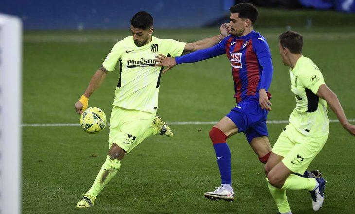 Atletico mposht Eibar-in me dy golat e Luis Suarez, përforcon vendin e parë në La Liga