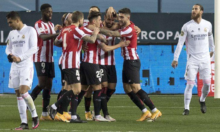 Superkupa e Spanjës: Bilbao eliminon Real Madridin, në finale e pret Barcelona