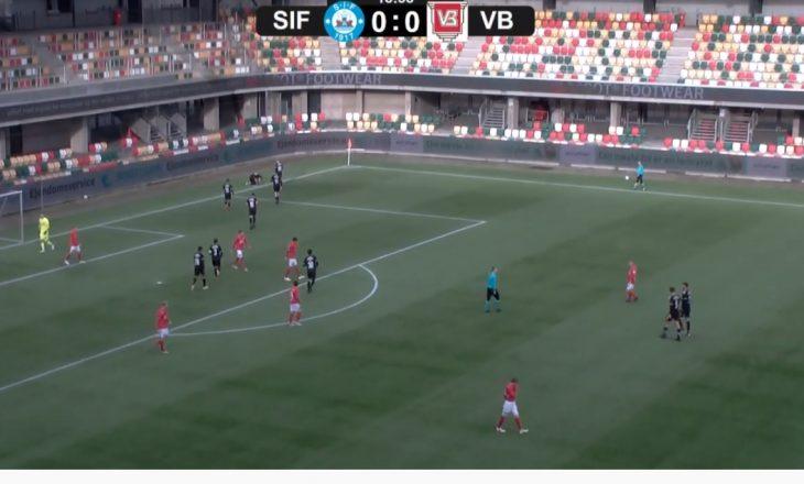 Ylber Ramadani shënon gol për Vejle-n në Danimarkë