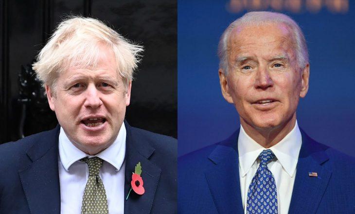 Joe Biden zhvilloi bisedë telefonike me kryeminstrin britanez Boris Johnson