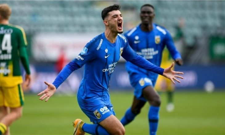 Armando Broja shënon gol për Vitesse-n në Eredivisie