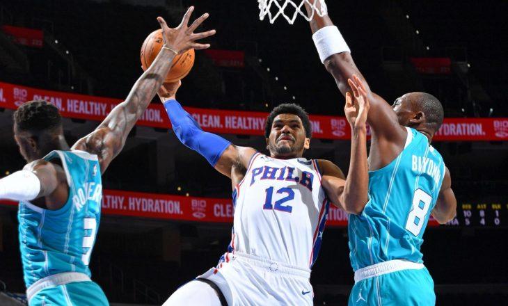 Philadelphia 76ers mposhti Charlotte Hornets-in, shënon fitoren e tretë me radhë