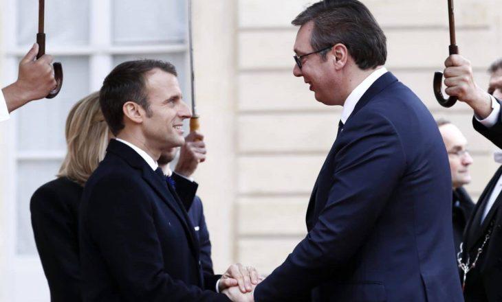 Vuçiq takohet sot me Macron, bisedojnë për Kosovën