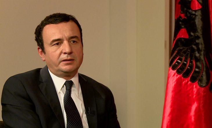 Kurti: Nuk e nisim luftën e tretë ballkanike për t'u bashkuar me Shqipërinë