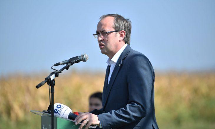 Hoti: Kemi dyfishuar subvencionet në bujqësi