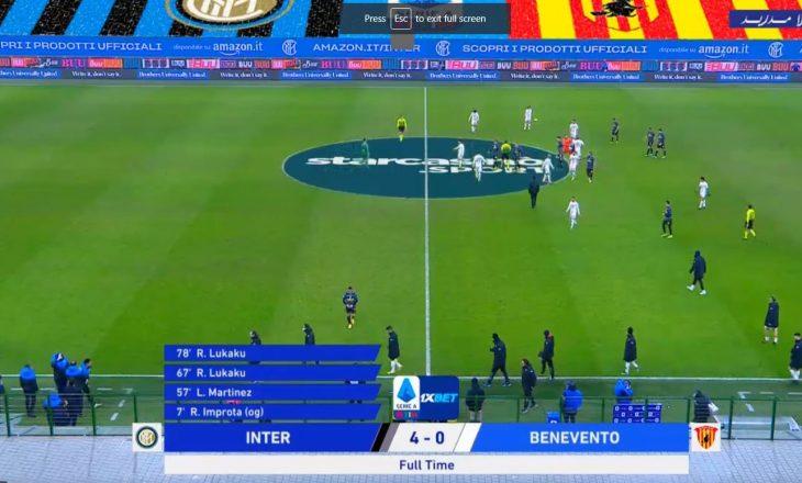 Inter shkatërron Benevento-n në 'Giuseppe Meazza'
