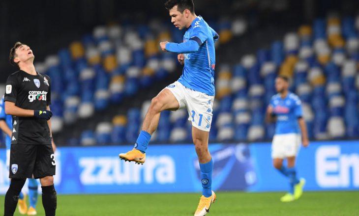 Napoli eliminon nga Kupa e Italisë ekipin e Empolit