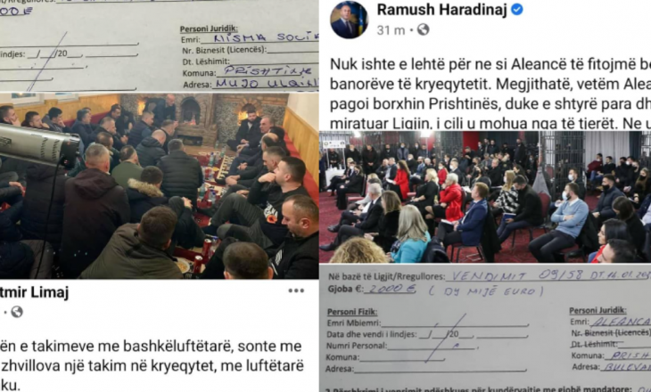 AAK dhe Nisma gjobiten me nga dy mijë euro për organizim të tubimeve