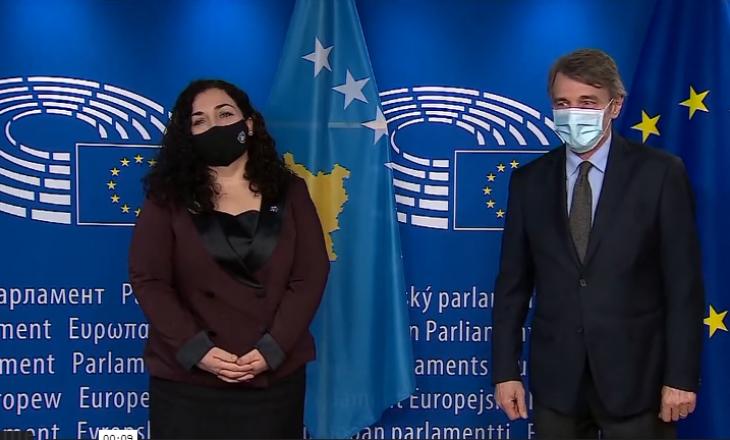 Osmani takohet me presidentin e Parlamentit Evropian