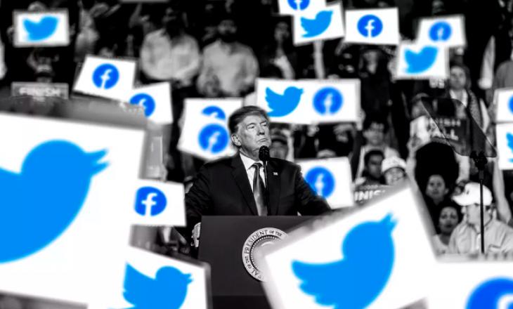 Pezullohen llogaritë e Trump-it në Facebook e Twitter