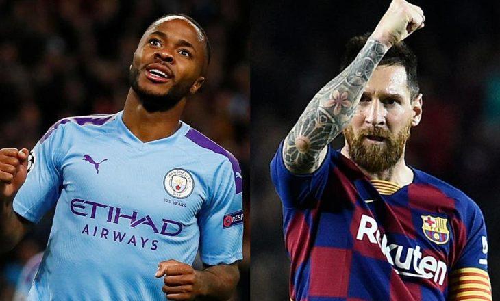 Sterling thyen rekordin e Messi-t, Guardiola e aktivizon në më shumë ndeshje