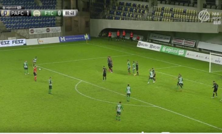 Myrto Uzuni shënon nga goditja e dënimit, shpëton nga humbja Ferencvaros-in