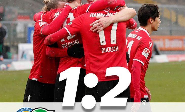 Valmir Sulejmani shënon gol për Hannover-in në Bundesligën e dytë gjermane