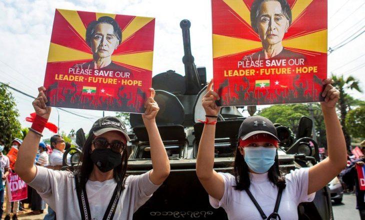 20 vjet burg në Burma nëse pengohen forcat e armatosura të grusht-shtetit
