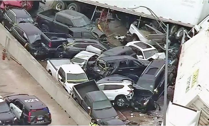 Rrugët e ngrira në Amerikë – aksidenti masiv me fatalitete ku u përfshinë 133 automjete